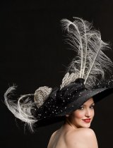 girl with feather hat Nicholas Kniel designs