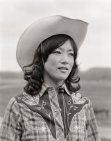 japanese woman in cowboy hat