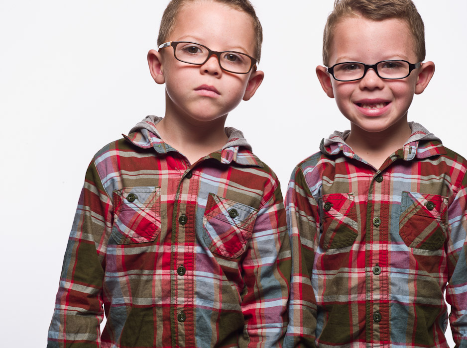 twin boys wearing glasses