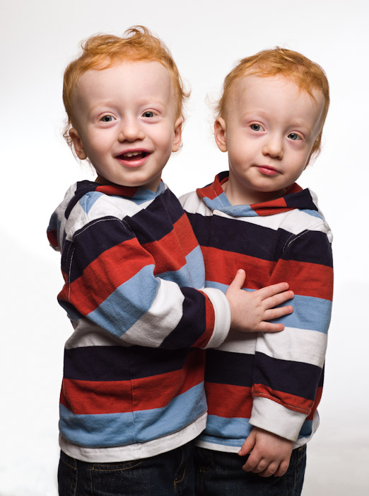 Think, redhead twins hugging you the